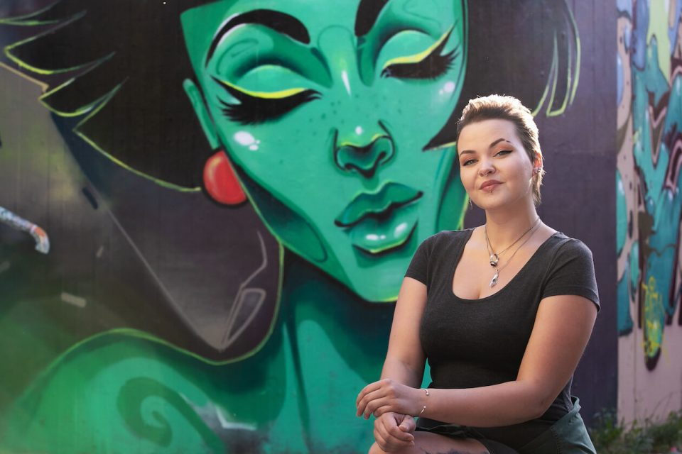 Künstlerin Marija Silvija Ambrazeviciute alias Emesa