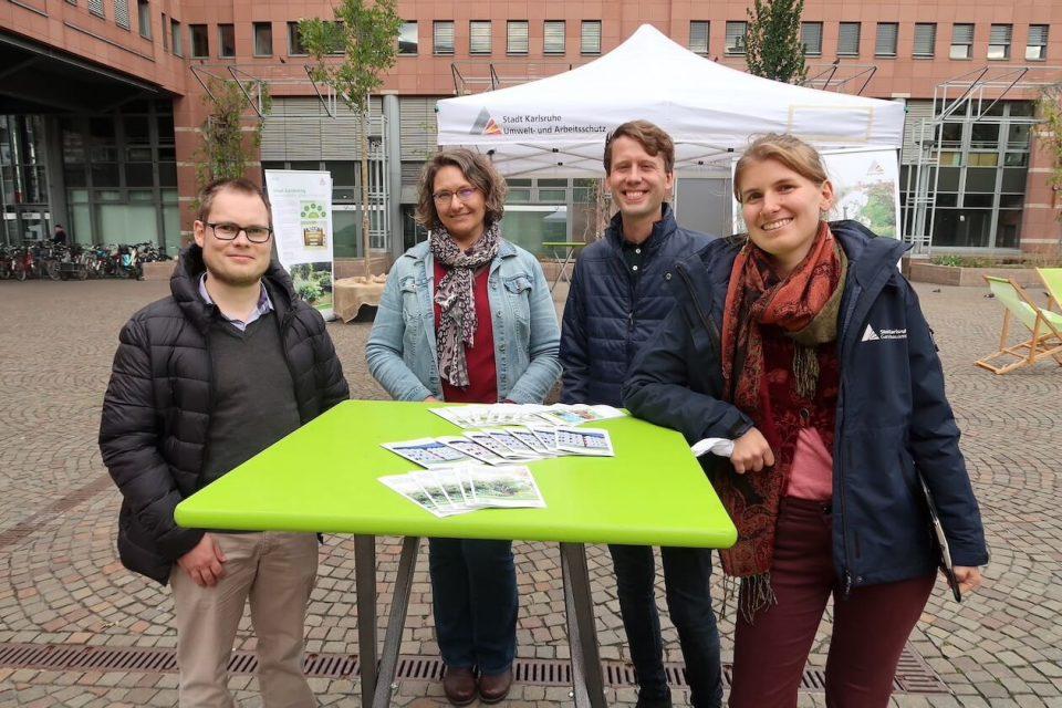 Aktionstag Grüne Stadtauf dem Kronenplatz in Karlsruhe