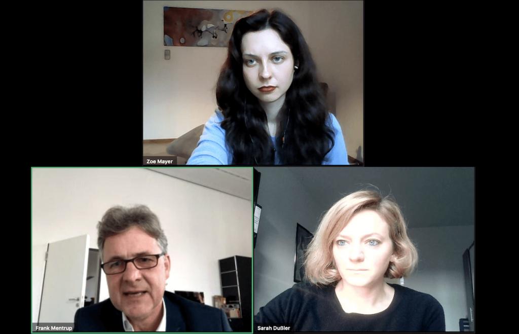 Frank Mentrup in Videocall mit den Grünen Karlsruhe