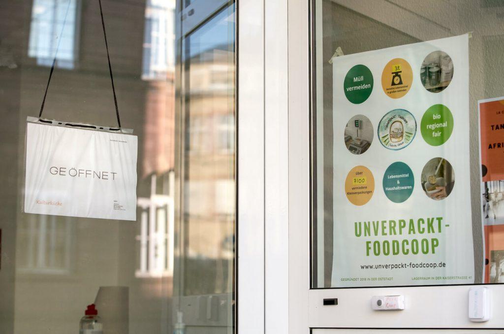 Eingang der Unverpackt-Foodcoop Karlsruhe