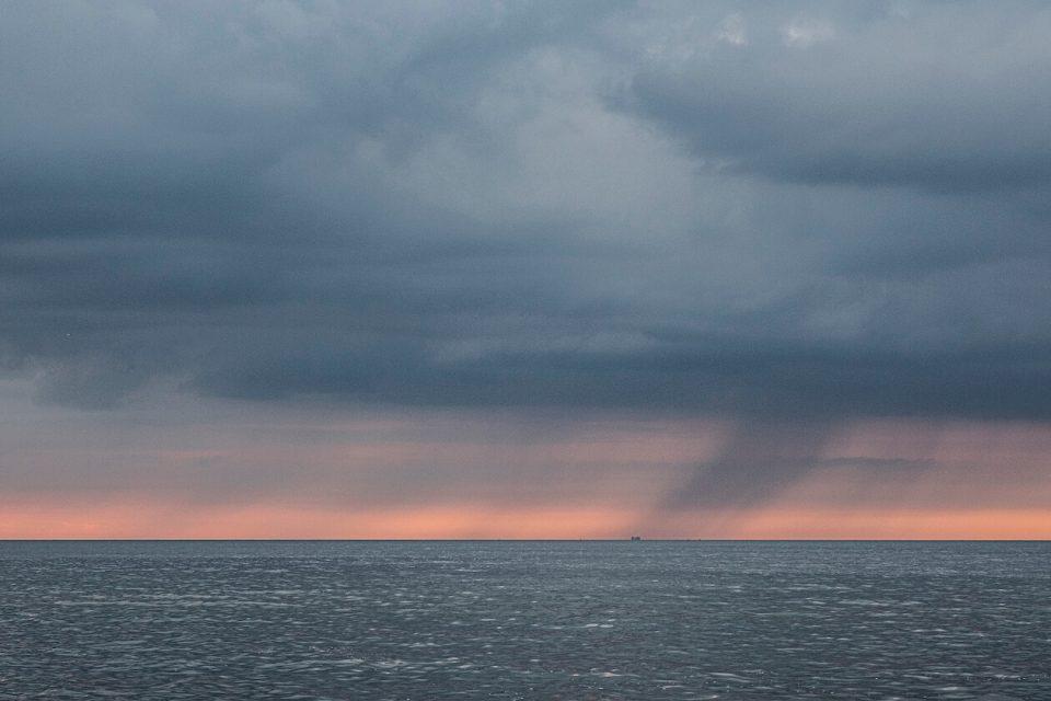 Extremwetter über dem Meer