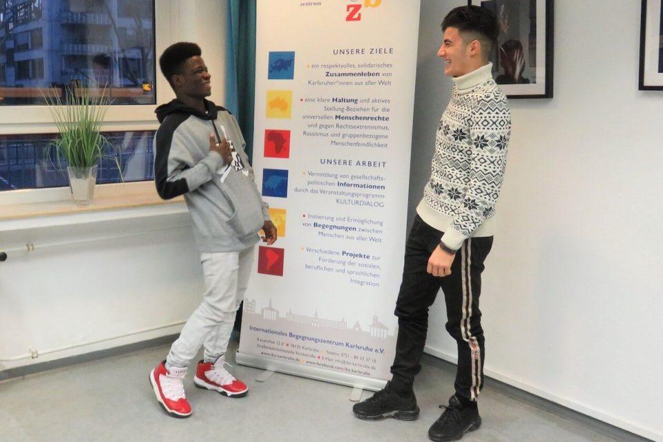 Ismail und Aram im ibz in Karlsruhe