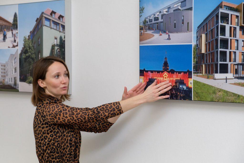 Pia Hesselschwerdt leitet die Abteilung Unternehmenskommunikation der Volkswohnung
