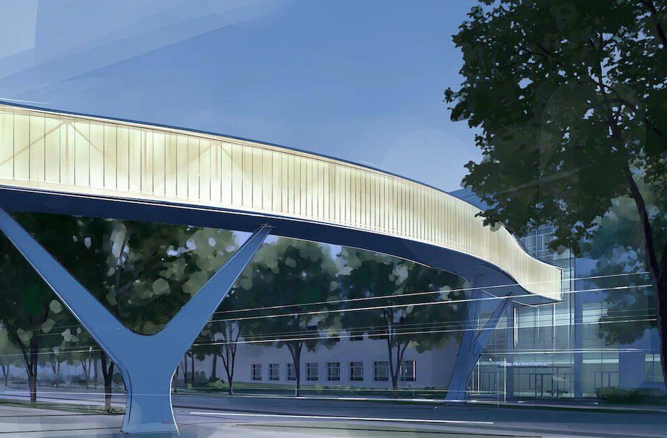 Brücke für das Städtische Klinikum