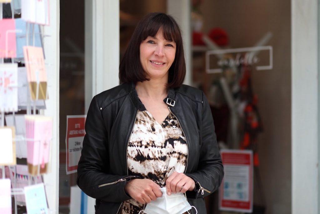 Tanja Wolf von der Boutique Maribelle in Karlsruhe