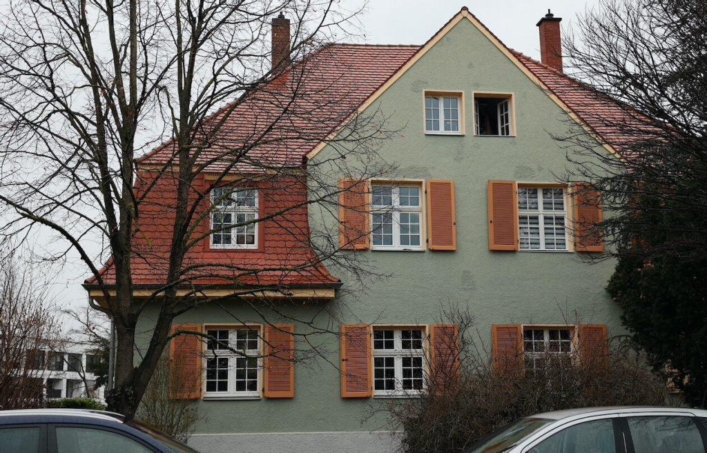 Grünes Haus in der Gartenstadt Karlsruhe