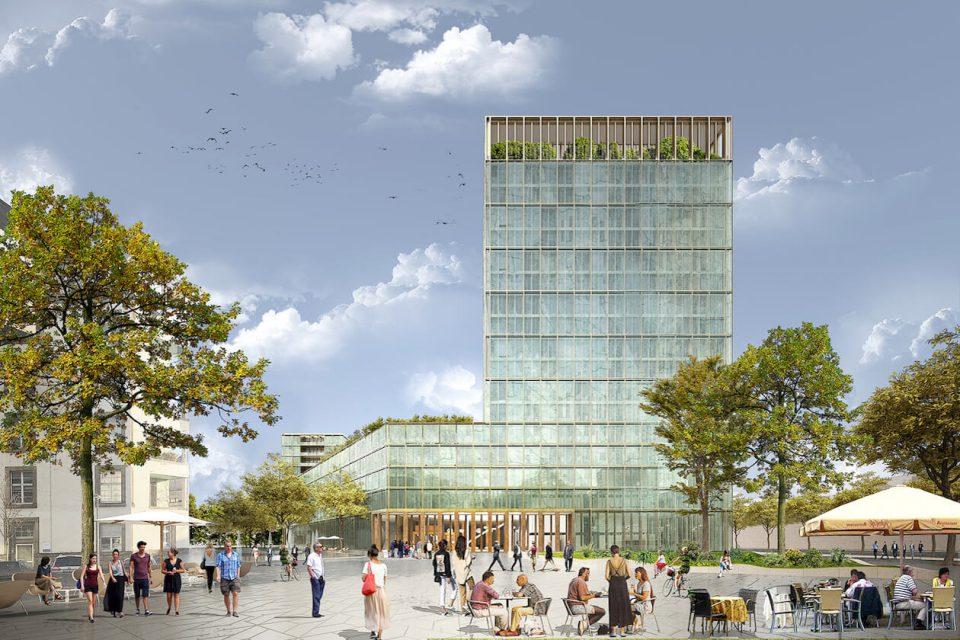 Neues Landratsamt Karlsruhe von Max Dudler Architekten