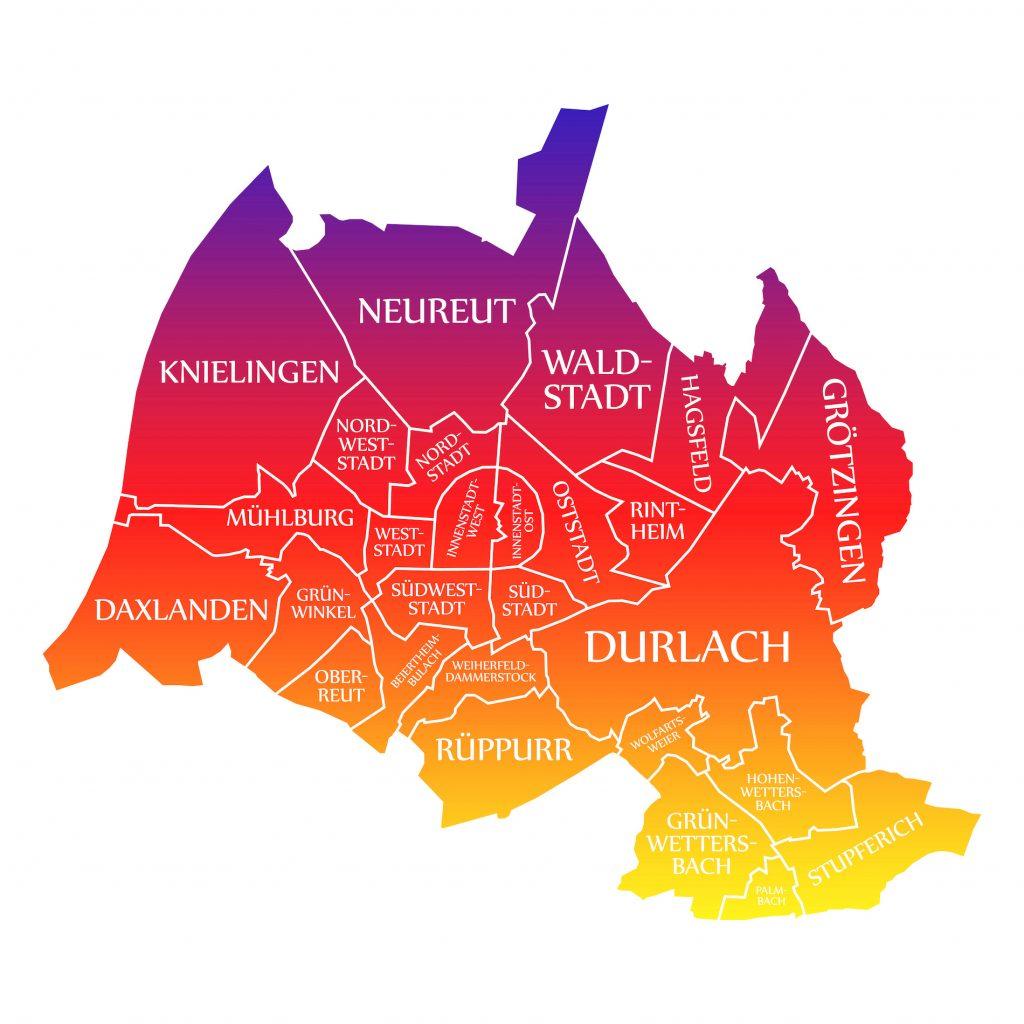 Stadtviertel von Karlsruhe