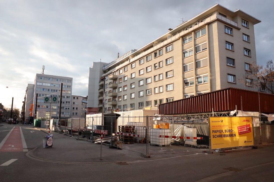 Baustelle am Berliner Platz