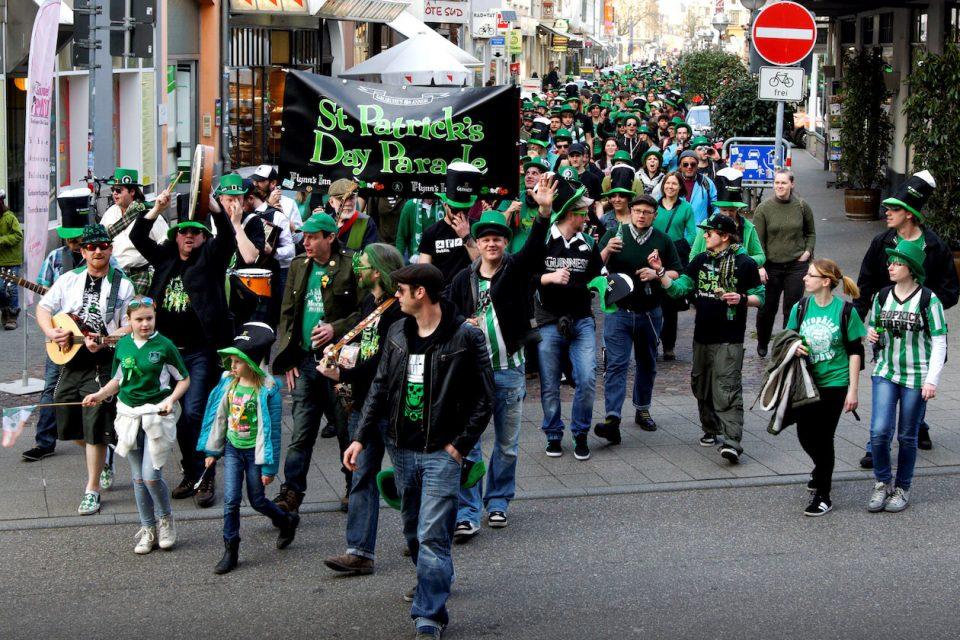 Parade zum St. Patrick's Day 2016 in Karlsruhe
